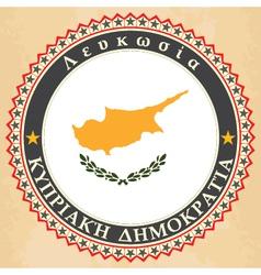 Vintage label cards of cyprus flag vector