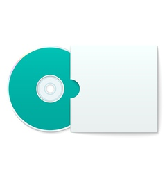Blank compact disk with cover vector