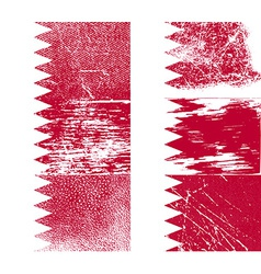 Flag of bahrain with old texture vector