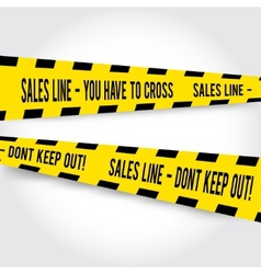 Comic yellow caution line for sales vector