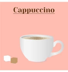 Cup of cappuccino vector
