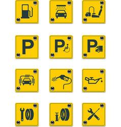 Roadside services signs pt 1 vector