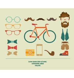 Hipster info graphic hipster elements vector