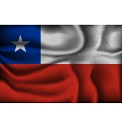 Crumpled flag of chile on a light background vector