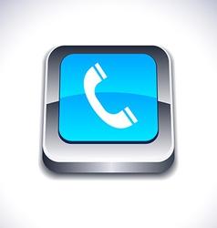 Telephone 3d button vector