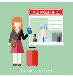 Border control concept vector