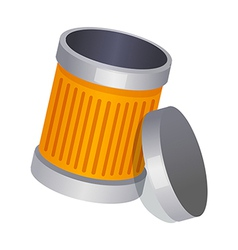 Icon trash can vector