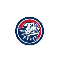 Angry bulldog dog mongrel head mascot vector