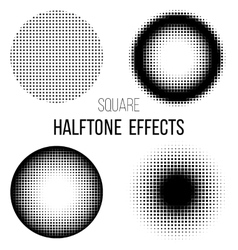 Abstract square halftone vector