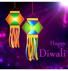 Diwali kandil vector