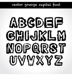 Grunge capital font vector