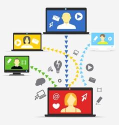 Modern people communication scheme vector
