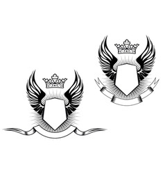 Heraldry design vector