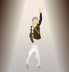 Male ballet poses vector