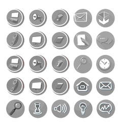 Electronic device icons in cartoon style vector