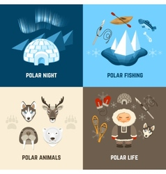 Chukchi design concept set vector