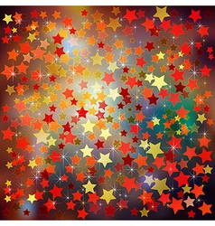 Abstract christmas brown background with red stars vector