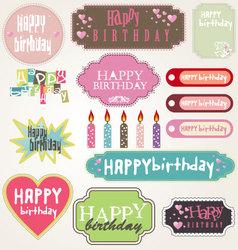 Happy birthday - labels vector