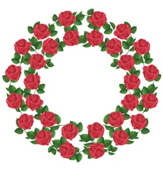 Ornament of red roses element of design vector