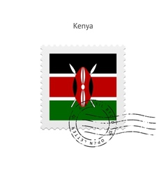 Kenya flag postage stamp vector