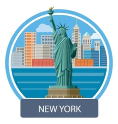 Statue of liberty new york city vector