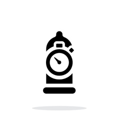 Condom with sex timer icon on white background vector