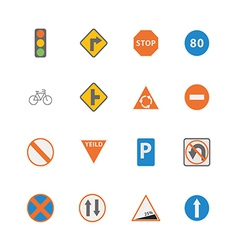 Icon traffic sign vector