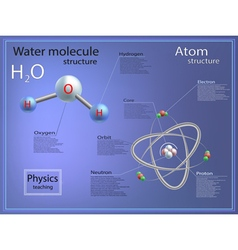 Infographics teaching physics atomic and molecular vector