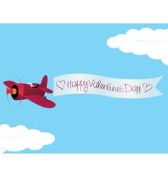 Plane valentine vector