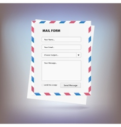 Mail form to send a message from the site vector