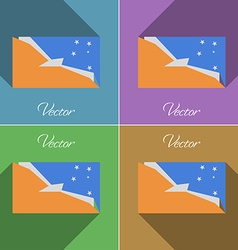 Flags tierra del fuego province set of colors flat vector