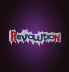 Revolution grafitti vector