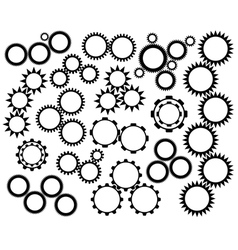 Gear wheels mechanism vector
