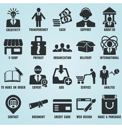 Set of marketing internet and service icons vector