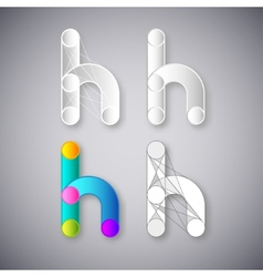 Abstract combination of letter h vector