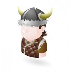 Viking icon vector