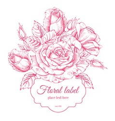 Luxury rose card vector