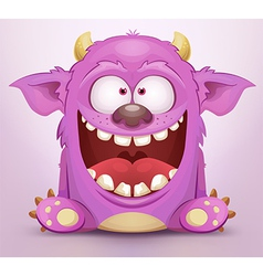 Laughing monster vector