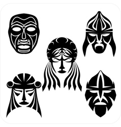 Masks - set vector