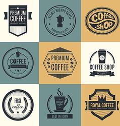 Coffee shop logo collection vector