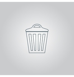 Trash can icon eps10 vector
