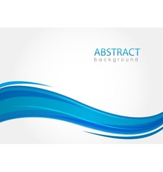 Abstract background with blue waves vector