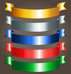 Shiny ribbon banners vector