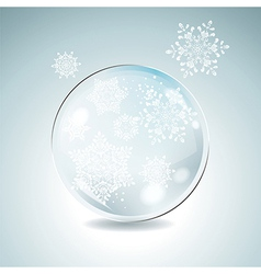 Fir tree bauble with white snowflakes christmas vector