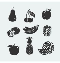 Set of symbols fruit vector