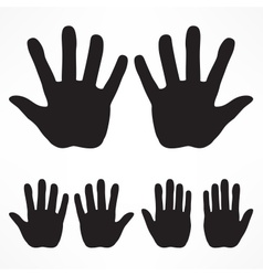 Hand silhouette set vector