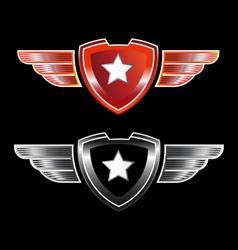 Shield star vector