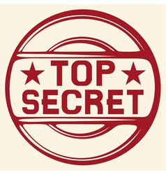 Top secret stamp vector