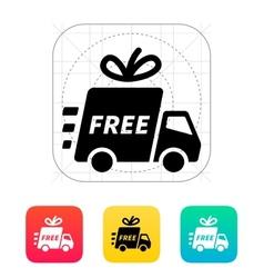 Delivery car icon vector