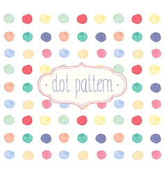 Watercolor dots vector